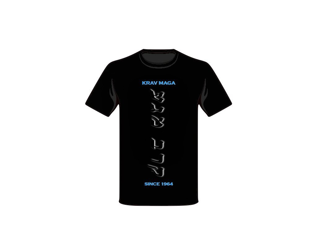 KRAV MAGA T-SHIRT BLACK IN BLACK HIGH