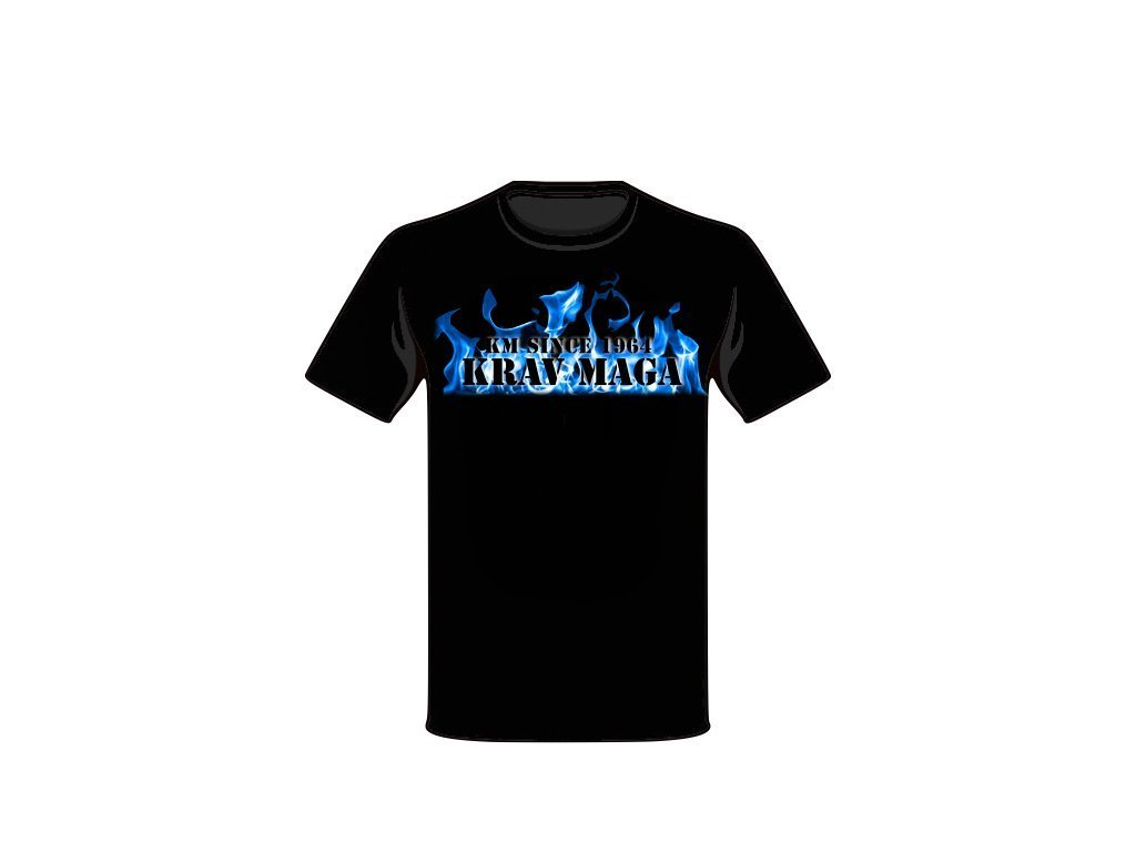 KRAV MAGA T-SHIRT BLUE FIRE