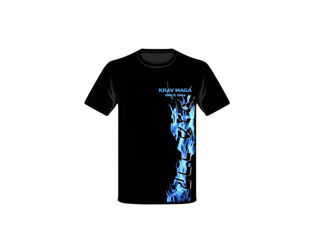 T-SHIRT KRAV MAGA BLUE FIRE HIGH
