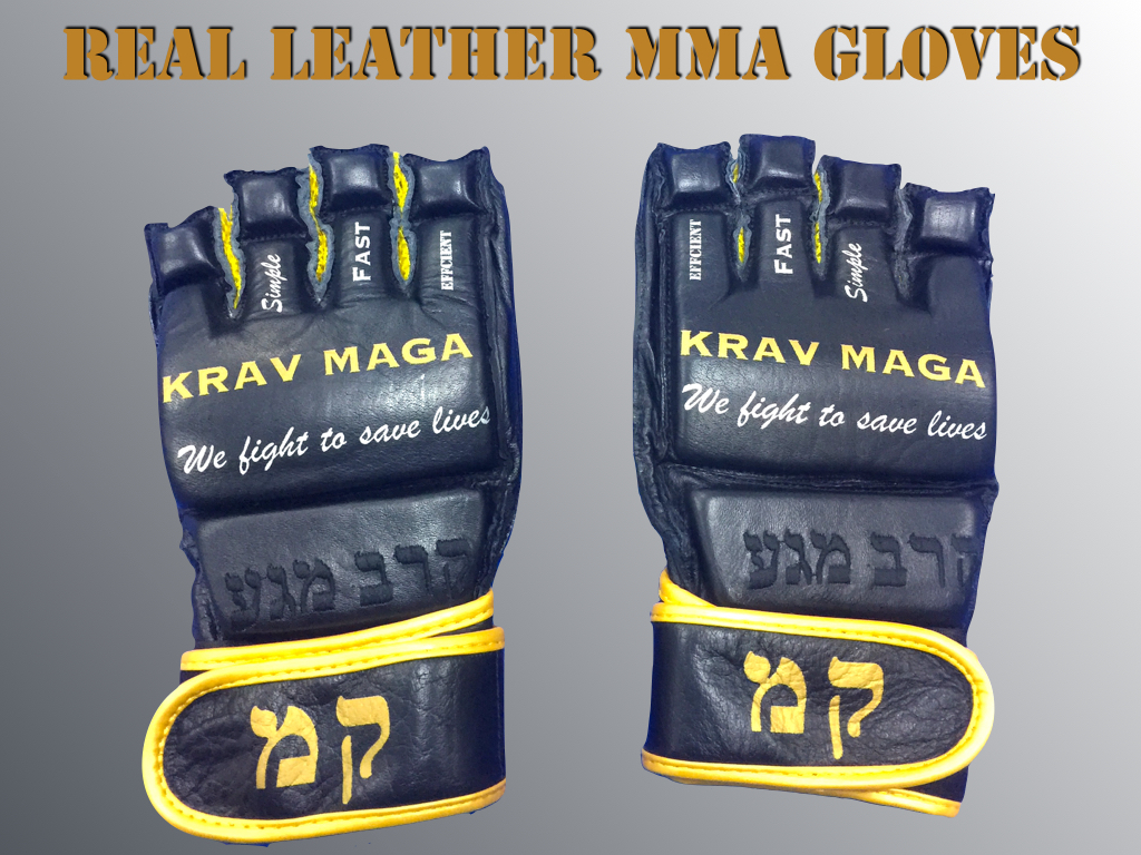 KRAV MAGA MMA GLOVES – REAL LEATHER