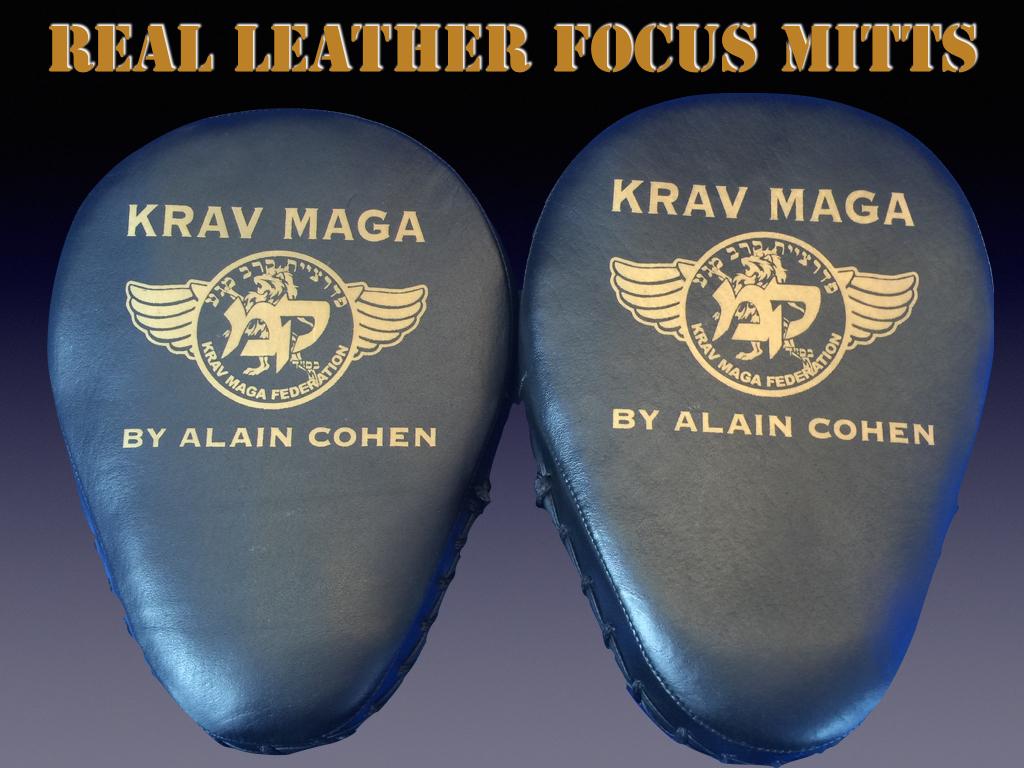 KRAV MAGA FOCUS MITTS – REAL LEATHER