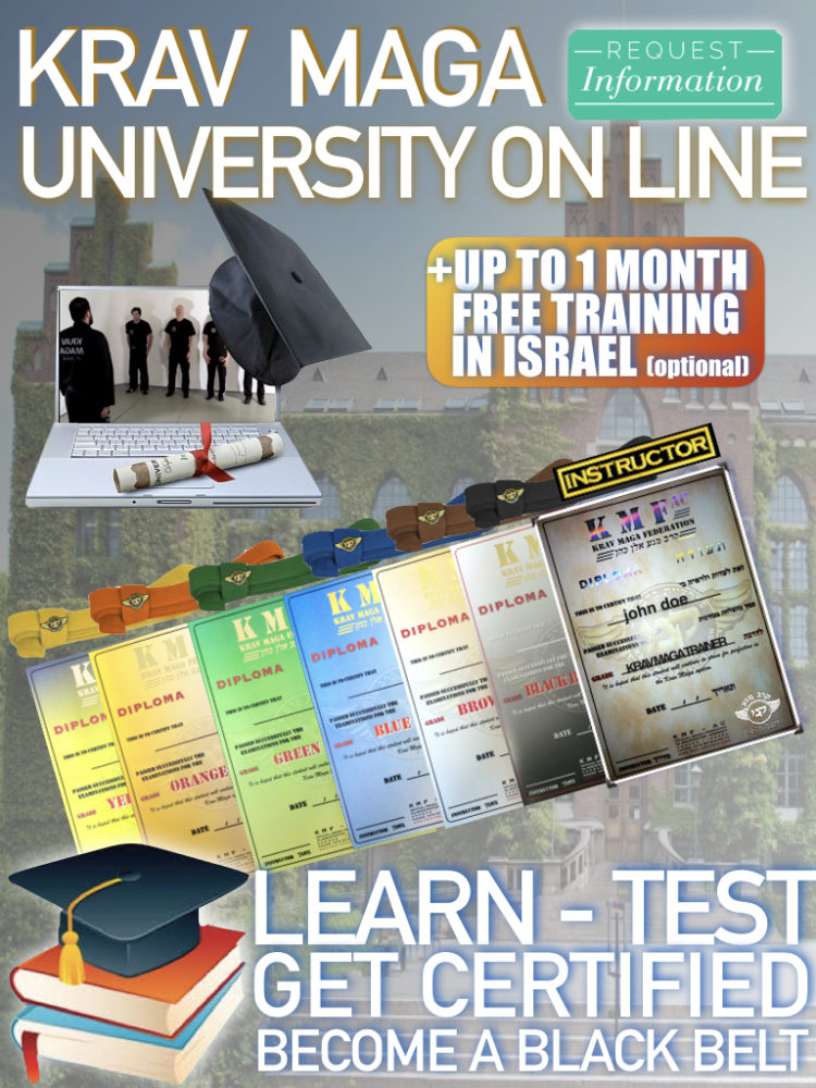 KRAV MAGA ON LINE UNIVERSITY FULL CURSUS CERTIFICATION